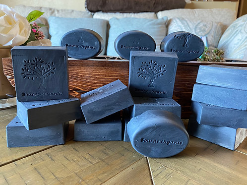 Whiskey and Scotch Charcoal Soap (large square)