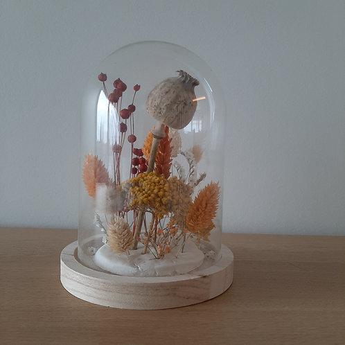 Stolp met droogbloemen