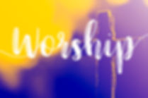"""The word """"Worship"""" and holy cross for go"""