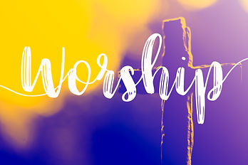 "The word ""Worship"" and holy cross for go"