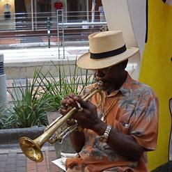 Musician on the sidewalk