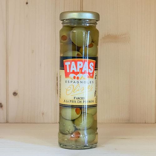 Olives farcies à la Pâte de Poivrons (150g)