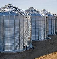 Westeel Flat Bottomed Grain Silo