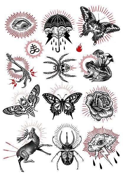 Art Poster Tatuaje Illustration Flash Tattoo Design Graphic Design Etching Engraved Encilopedia Clip Art