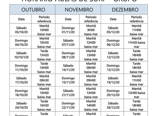 HORÁRIO ÚLTIMO TRIMESTRE DO ANO 2020