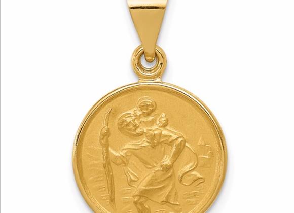 18k Saint Christopher Medal Pendant
