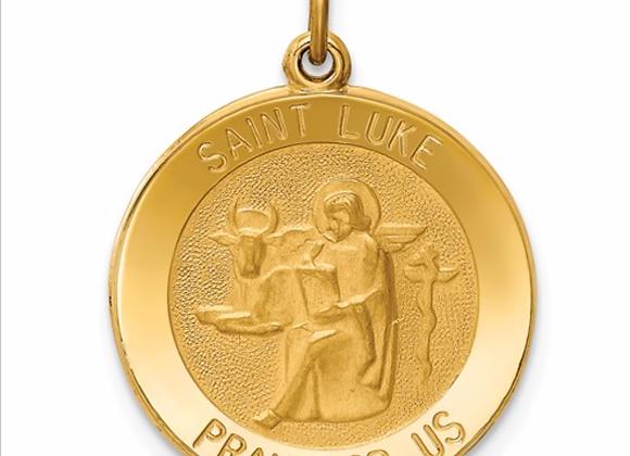 14k Saint Luke Medal Pendant
