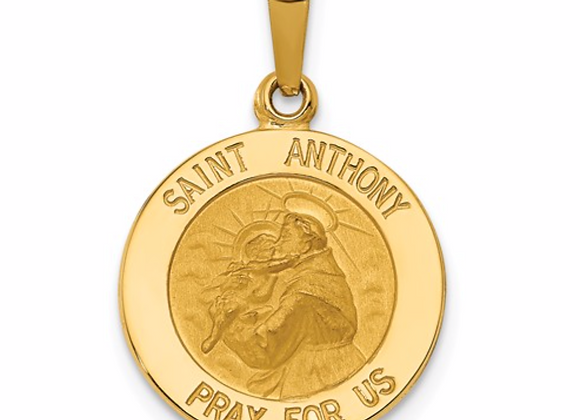 14k Saint Anthony Medal Charm