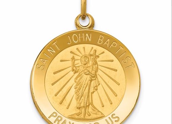 14k Saint John Baptist Medal Pendant