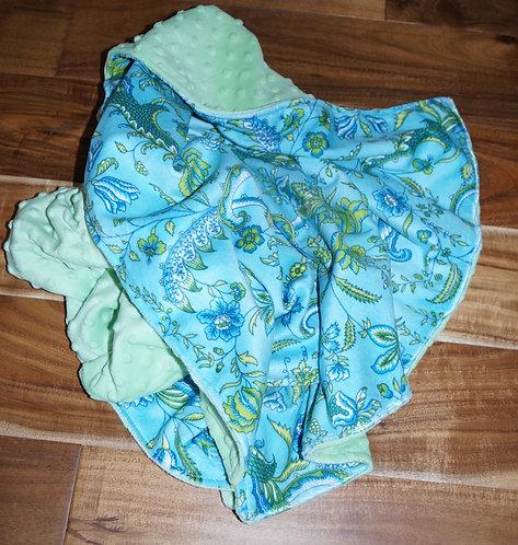 Minky Baby Blanket Blue Heirloom