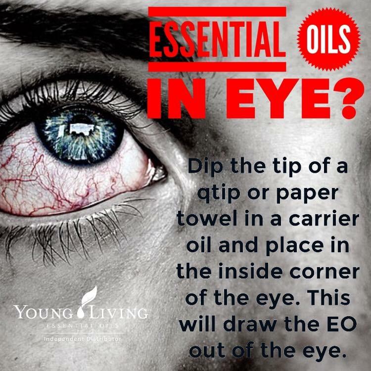 I got an oil in my eye!!