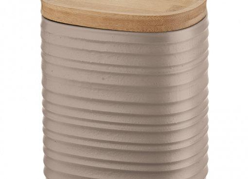Емкость для хранения с бамбуковой крышкой Tierra 1 л бежево-розовая