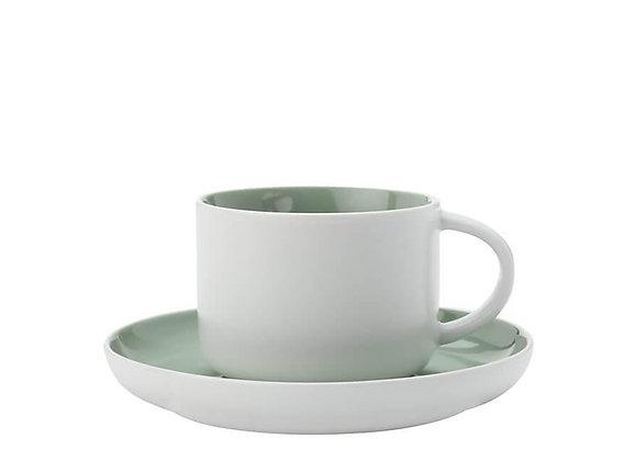 Чашка с блюдцем Tint 0.25 - Мятная