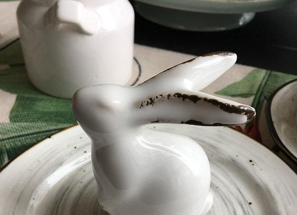 Кролик белый керамический 9 см