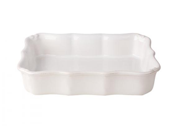 Блюдо для запекания Barocco CASAFINA White
