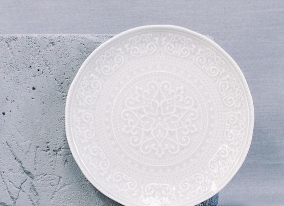Тарелка обеденная Abitare светло-серая 26,5 см