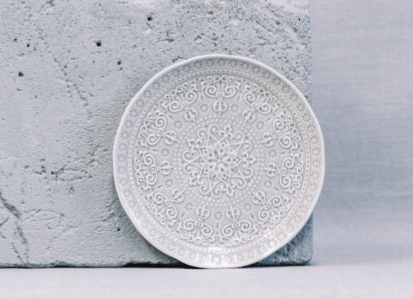 Тарелка закусочная Abitare темно-серая 19 см
