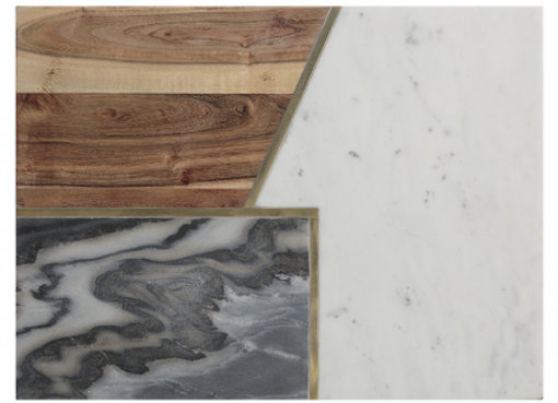Доска сервировочная Elements из мрамора, камня и акации