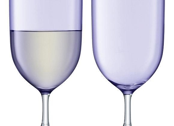 Набор из 2 бокалов для воды и вина Hint  фиолетовый