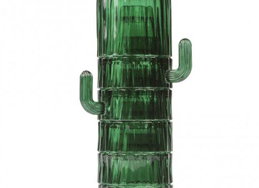 Набор из 6-ти стеклянных стаканов Saguaro, зеленый