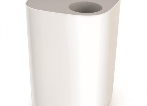 Контейнер мусорный Split™ для ванной комнаты, бело-серый