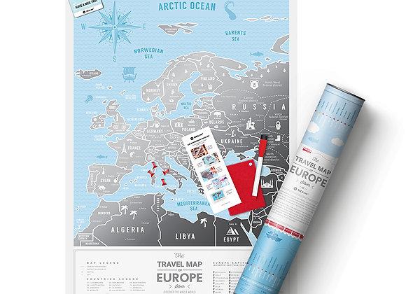 Карта Travel Map Silver Europe