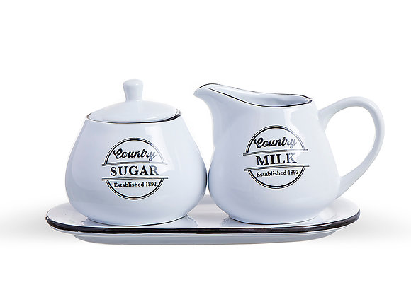 Набор сахарница и молочник West