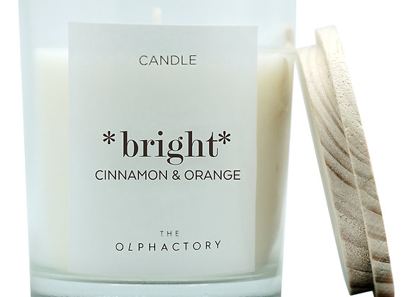 Свеча ароматическая BRIGHT - Корица & Апельсин, 30 ч