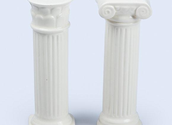 Солонка и перечница керамические Hestia белые