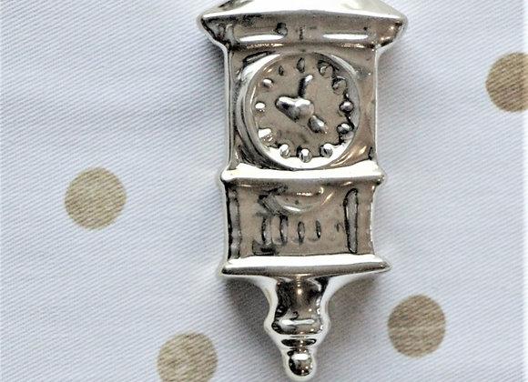 Подвеска керамическая - часы M, золото