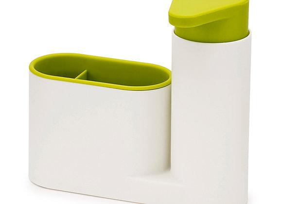 Органайзер с дозатором для мыла SinkBase Белый с зелёным