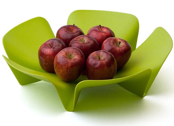 Ваза для фруктов Flower зеленая