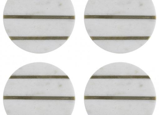 Набор из 4 подставок из мрамора Elements D 10 см