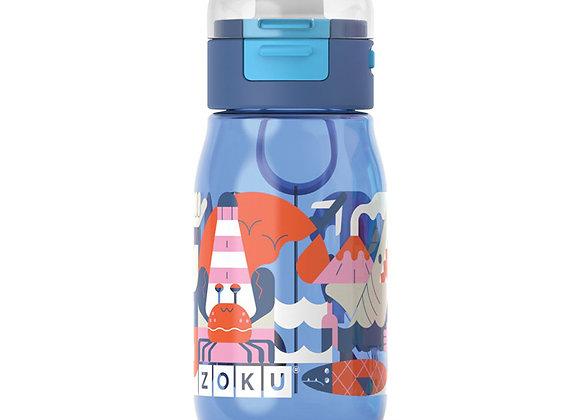 Бутылочка детская с крышкой 475 мл синяя