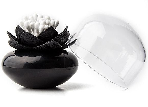 Контейнер для хранения ватных палочек Lotus черный
