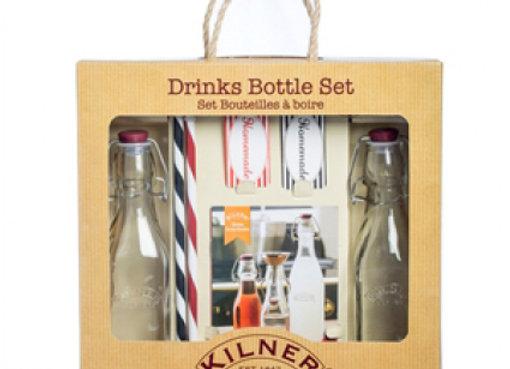 Набор из 2 бутылок и трубочек, Kilner