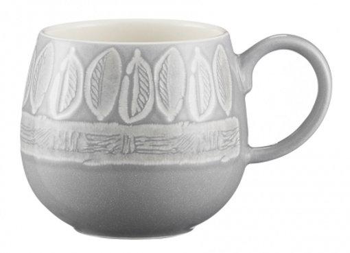 Чашка Impressions Leaf 350 мл серая