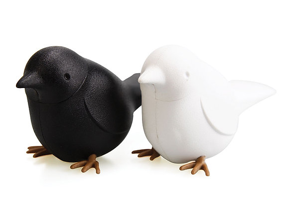 Набор для специй Sparrow чёрный-белый