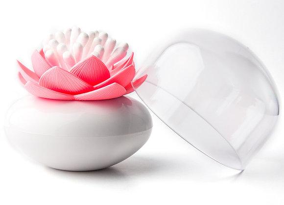 Контейнер для хранения ватных палочек Lotus белый-розовый