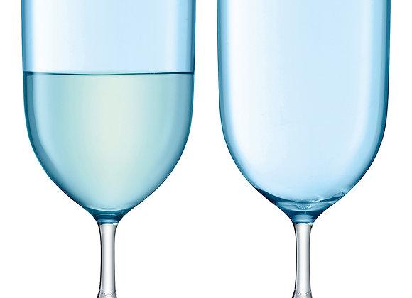 Набор из 2 бокалов для воды и вина Hint бирюзовый