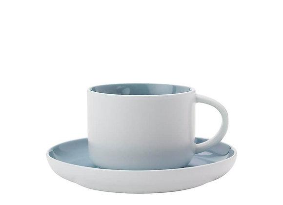 Чашка с блюдцем Tint 0.25 - Голубая