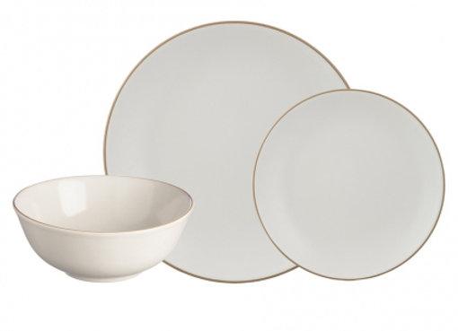 Набор обеденной посуды Classic 12 предметов кремовый