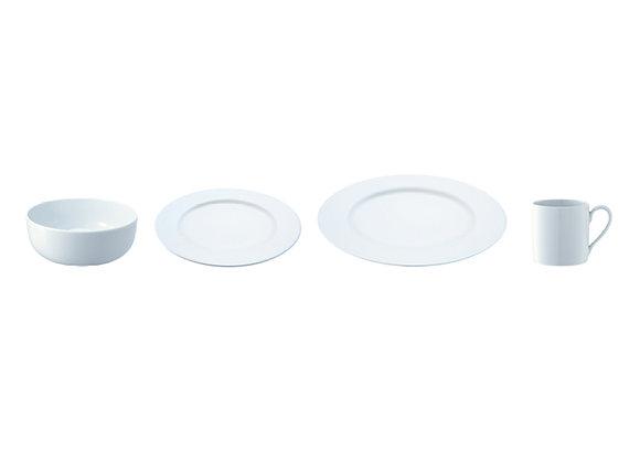 Набор посуды Dine с бортиком 4 предмета