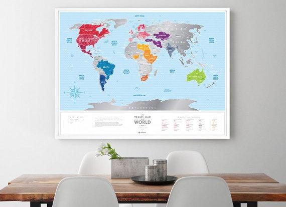 Карта Travel Map Silver World