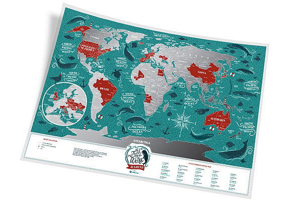 Карта Travel Map Marine World