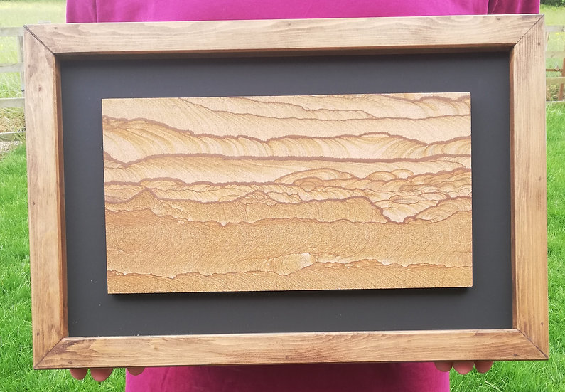 Framed Picture Sandstone Plaque