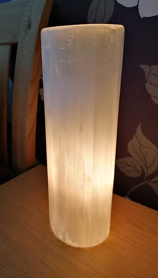 300mm Polished Selenite Lamp With Warm White Lamp