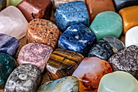 Collection of different colored polished