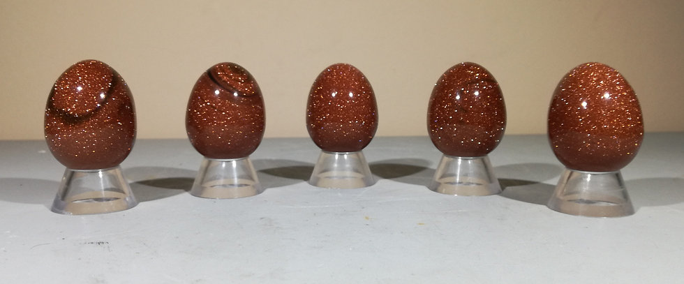 Goldstone Egg With Free Stand