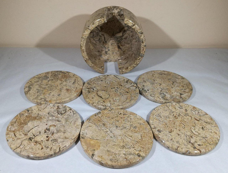 Fossilstone Coaster Set